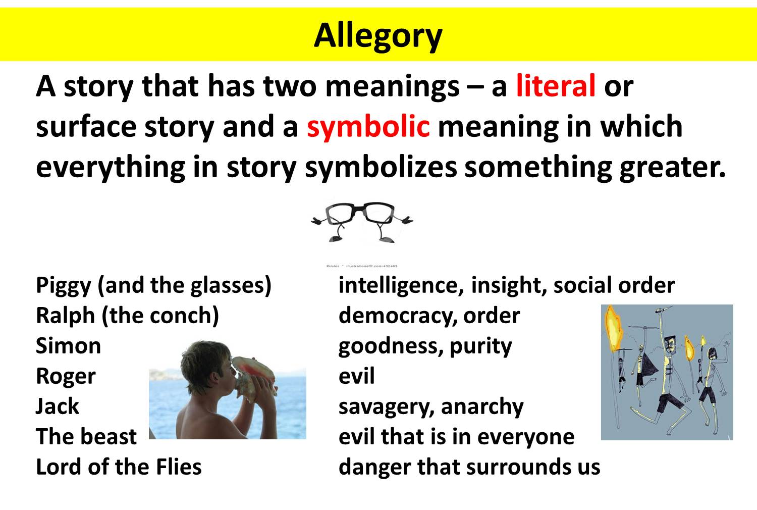 allegory in lord of the flies Learn important quotes from lord of the flies to enhance your knowledge of the text understanding these important passages is crucial to your understanding of the themes of the novel, which.